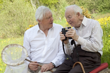 Ted Smith with David Attenborough